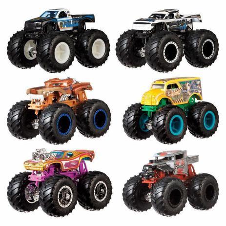 Imagem de Hot Wheels Pack De 2 Carrinhos Monster Truck Surpresa Fyj64