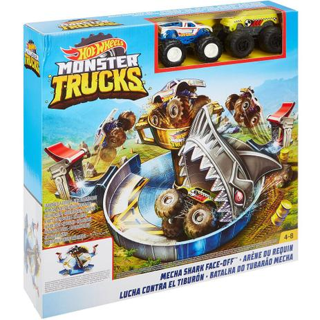 Hot Wheels Pista Monster Trucks Batalha Do Tubarao Mecha Fyk14