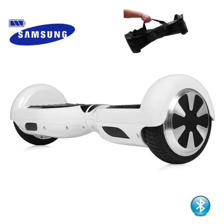 "0b3b411fc5a Hoverboard 6.5"" Branco Bluetooth - Bateria Samsung - Smart balance wheel"