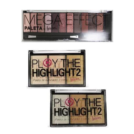Imagem de Iluminador Play The Highlight 2 Cor A e B e Paleta Mega Effect Luisance