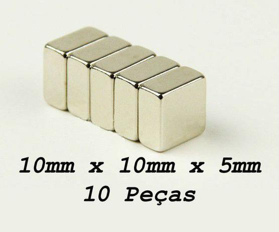 97ece78bdf4 Ima De Neodímio   Super Forte   10mm X 10mm X 5mm 10 Peças - Fácil negócio  importação