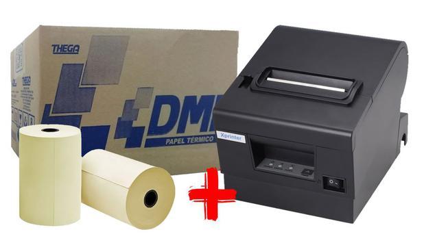 Imagem de Impressora Térmica XP-D600 Ethernet + 1 Caixa De Bobina DML 80x40 30un