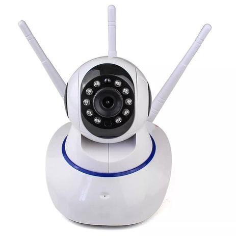 8b3ec55eb Ip Camera Wifi Com 3 Antenas Onvif HD P2p 360 - Câmera de Segurança ...