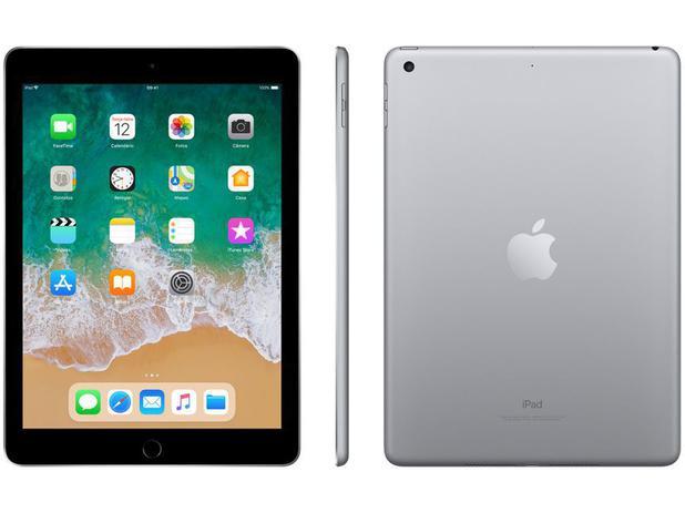 """Imagem de iPad 6 Apple 32GB Cinza Espacial Tela 9.7"""" Retina"""