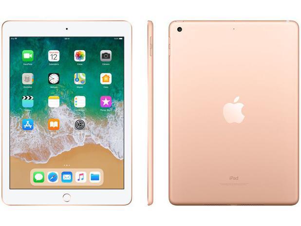 """Imagem de iPad 6 Apple 32GB Dourado Tela 9.7"""" Retina"""