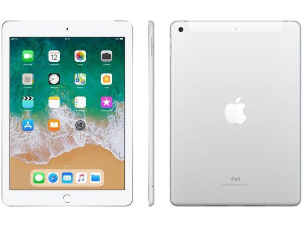 "Imagem de iPad 6 Apple 4G 32GB Prata Tela 9,7"""