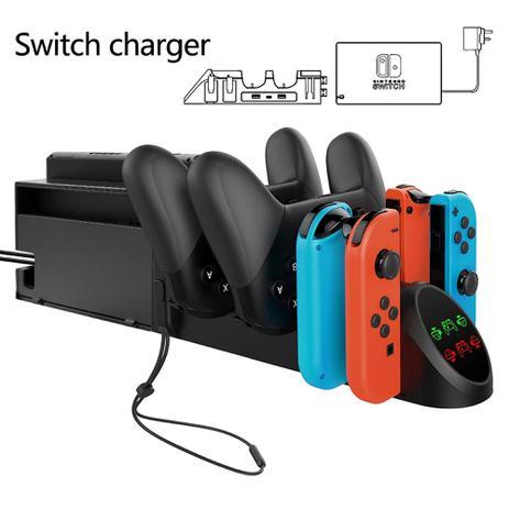 Imagem de Ipega PG-9187 6 em 1 base, suporte e dock de carregamento para Joy-Con e Pro Controle Nintend Switch