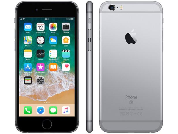 "f7478e5f7 iPhone 6s Apple 32GB Cinza Espacial 4G Tela 4.7"" - Retina Câm. 12MP +  Selfie 5MP iOS 11 Proc. A9"
