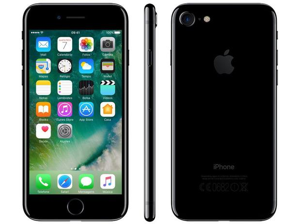 iphone 7 c iphone 7 apple 32gb preto brilhante 4g tela 4 7 retina 11519