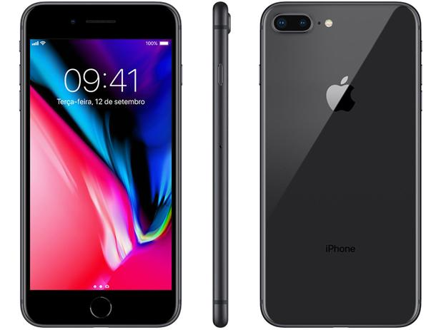 0f6ea36e0 iPhone 8 Plus Apple 256GB Cinza Espacial 4G - Tela 5