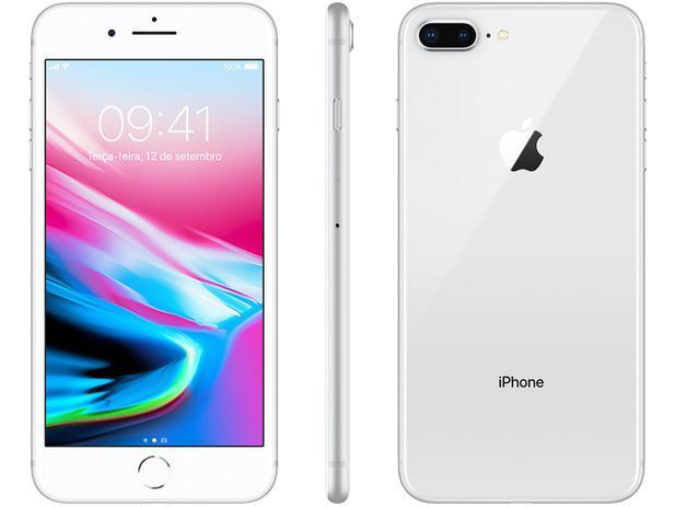 7a002bf7e iPhone 8 Plus Apple 64GB Prata 4G Tela 5