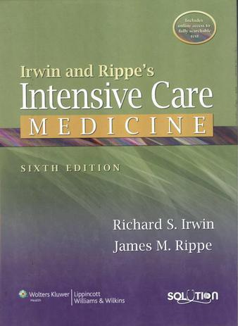 Imagem de Irwin and rippe´s intensive care medicine - 6th ed - Lws - lippincott wilians & wilkins sd