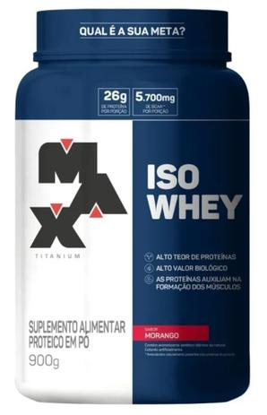 Imagem de Iso Whey isolado 900g Max Titanium