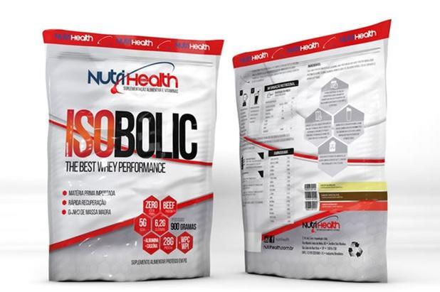 Imagem de Isobolic Refil (900g) - Morango - Nutri Health