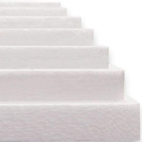 Imagem de Isopor em Placas 100CMX50CM 10 MM Caixa C/25 Placas Caixa Placterm