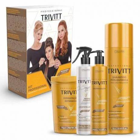Imagem de Itallian Trivitt Kit Profissional Hidratação E Cauterização - Grandha profissional