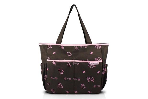 Imagem de Jacki Design Bolsa de Bebê Estampada  Cor Marrom e Pink