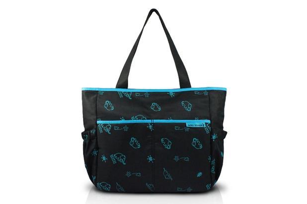 Imagem de Jacki Design Bolsa de Bebê Estampada  Cor Preto e Azul