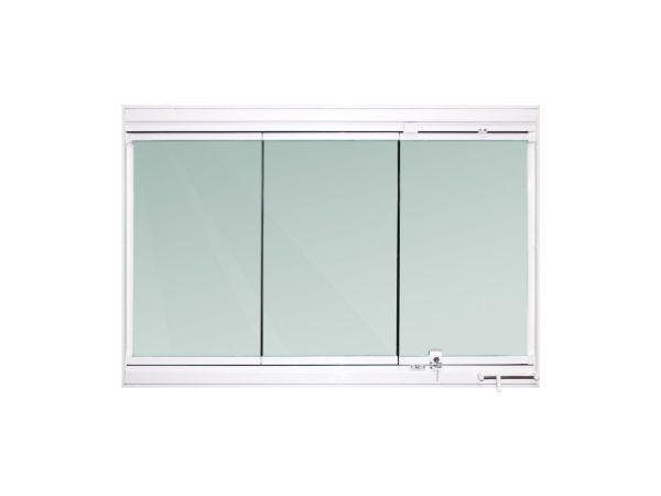 Janela Retratil 3flhs 100x150cm Vidro Verde 8mm Temp Prata Tp Clean Janela Magazine Luiza