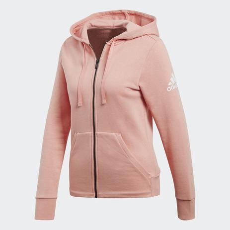 25cf75164f6 Jaqueta Adidas Capuz Essentials Slid Feminino - Rosa - Vestuário ...