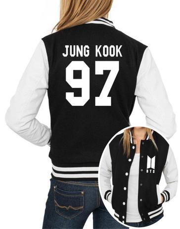 Imagem de Jaqueta College Feminina Kpop BTS Integrantes Jung Kook 97