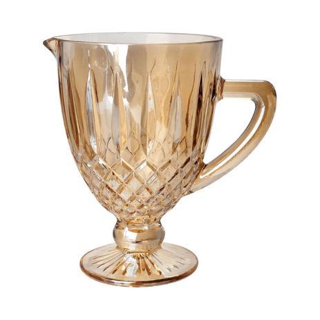 Imagem de Jarra 1 litro de vidro âmbar bico de jaca Greek Bon Gourmet - 35437