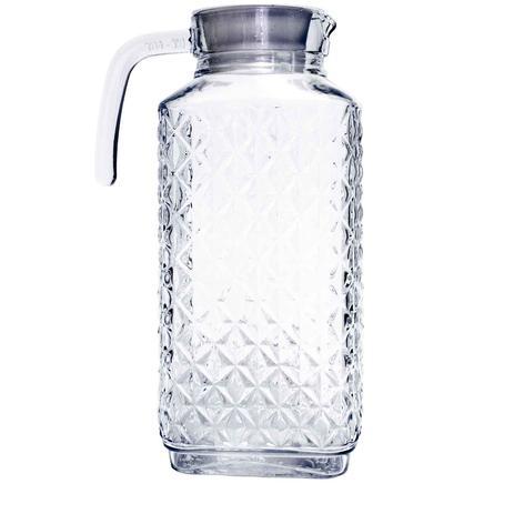 Imagem de Jarra Retangular de Suco ou Água Vidro 1,8L com Tampa - Apatita
