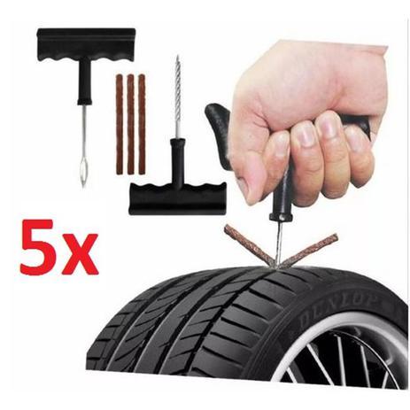 cb44a2cf55 Jogo com 5 kit borracheiro para reparos de pneus sem camera de carro moto  ou bicicleta - Gimp