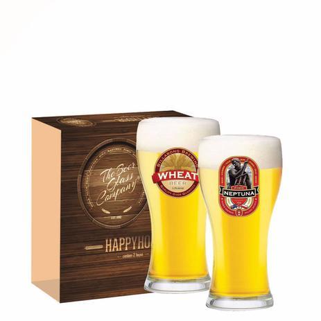 d3cc433493 Jogo Copos Cerveja Athenas Decorado 300ml 2 Peças Ruvolo - Copos ...