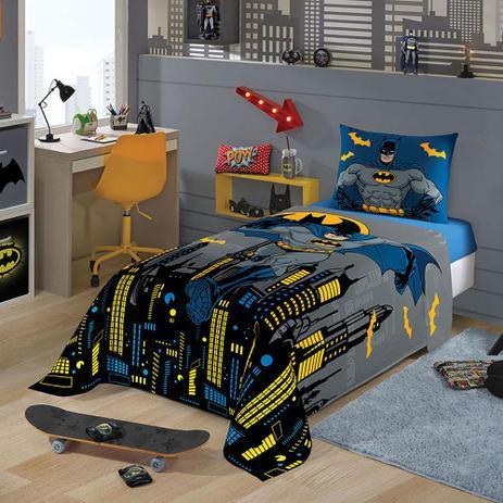 221bcbd226 Jogo de Cama Batman Solteiro 3 peças Azul - Lepper - Jogo de Cama ...