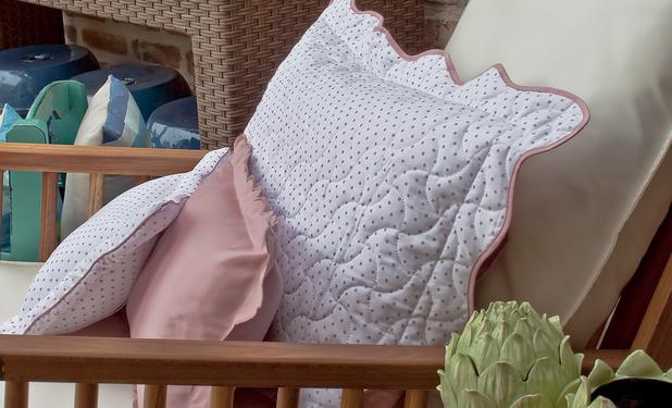 cddac6e74b Jogo de cama casal 220 fios poa rosa c elastico - Artelasse - Jogo ...