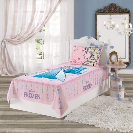 41f95093cc Jogo de Cama Infantil Frozen 2 peças Algodão Lepper Rosa - Jogo de ...