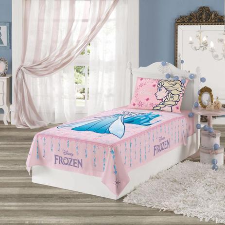 ce5c5ba447 Jogo de Cama Infantil Frozen 2 Peças Rosa - Lepper - Jogo de Cama ...