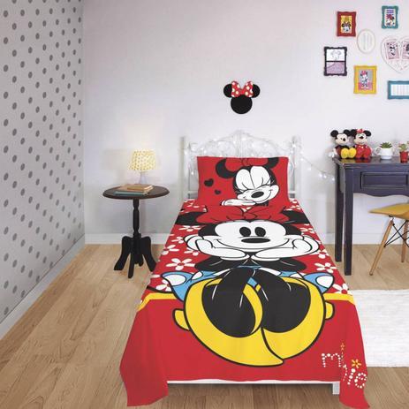 2b06e3c83f Jogo de Cama Infantil Minnie 2 Peças Algodão Lepper Vermelho - Jogo ...