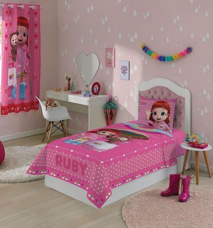 080db8221d Jogo de Cama Infantil Rainbow Ruby Com 2 Peças - Lepper - Jogo de ...
