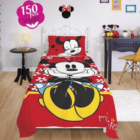 e9130e5f4b Jogo de Cama Lepper Minnie Disney 150 Fios 2 Peças Solteiro - Jogo ...