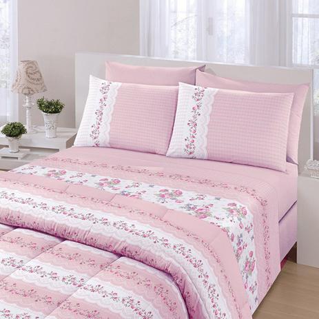 67d12fe873 Jogo de cama Royal Plus Solteiro 100 algodão 3 Peças Santista - Jogo ...