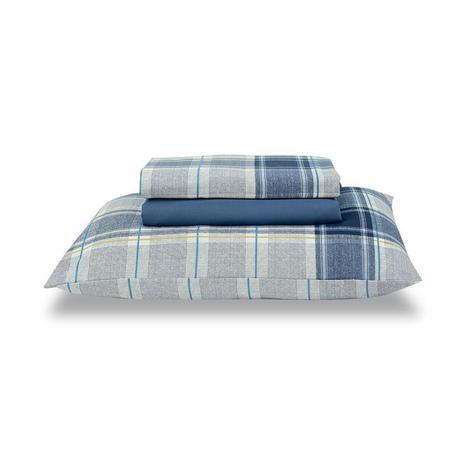 e9feab5389 Jogo de cama royal queen matias 1 azul - santista - Jogo de Cama ...
