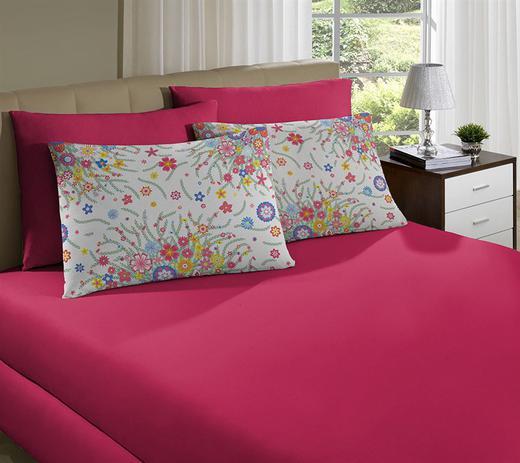 e0da9033a7 Jogo de cama simples solteiro de malha primavera rosa chiclete - portallar