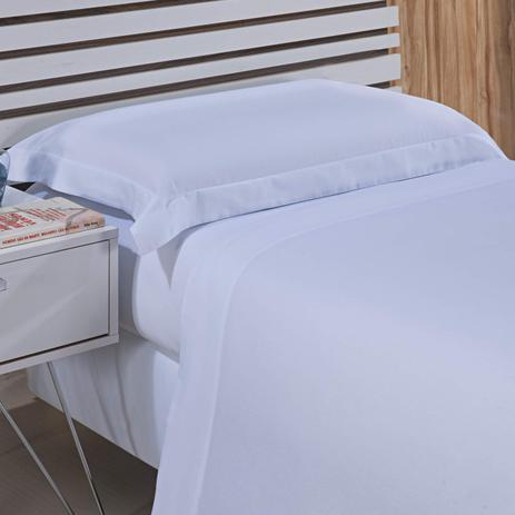 6d841bcf7d Jogo de Cama Solteiro 300 Fios 3 Peças Algodão Hotel Niazitex Branco ...