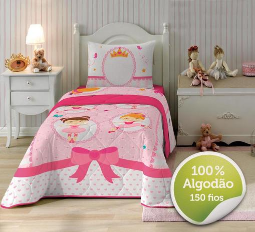 56860882b Jogo de Cama - Solteiro - Ballet - 3 Peças - 100 Algodão - 150 Fios - Lepper