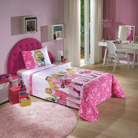 2b82ff168d Jogo de Cama Solteiro Barbie 3 peças - 100 Algodão - Dohler - Jogo ...