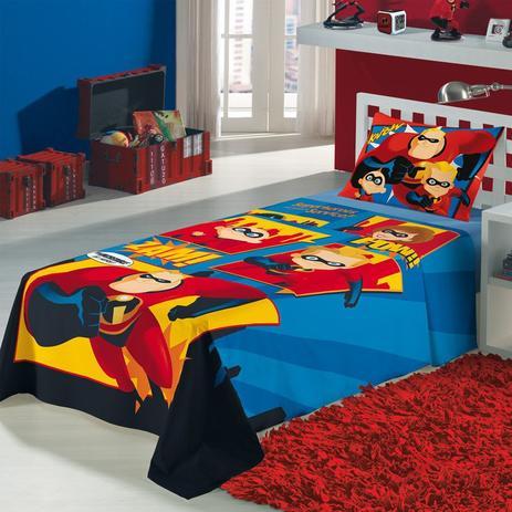 baa08c40a1 Jogo de Cama Solteiro Infantil Lepper Os Incríveis 3 peças - Jogo de ...