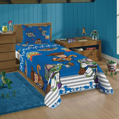 Jogo De Cama Solteiro Infantil Lepper Toy Story 3 Pecas Azul Jogo De Cama Infantil Magazine Luiza