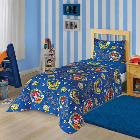fcb29bf7d Jogo de Cama Solteiro Patrulha Canina Menino 3 peças Azul - Lepper ...