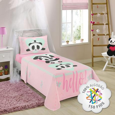 a4392e8c4e jogo de cama urso panda 100 algodão 150 fios 3 peças lepper - Jogo ...