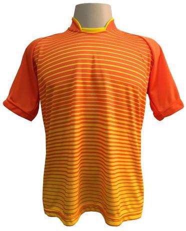 Jogo de Camisa com 18 unidades modelo City Laranja Amarelo + Brindes - Play  fair 52f3993db4ac0
