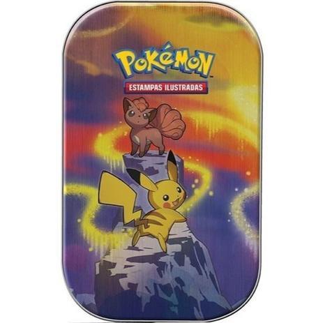 Imagem de Jogo de Cartas Pokemon Mini Lata Poderes De Kanto