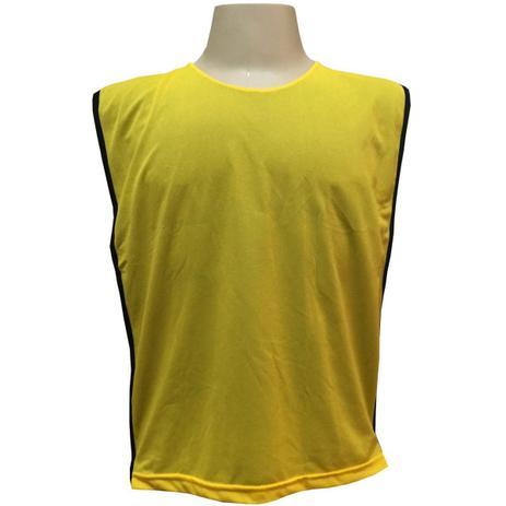 Jogo de Coletes Dupla Face 15 Unidades na cor Amarelo Preto - Kanga sport 56cc5a08171e4