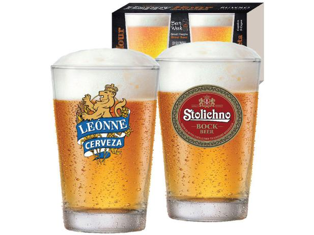 Imagem de Jogo de Copos de Vidro para Cerveja 300ml